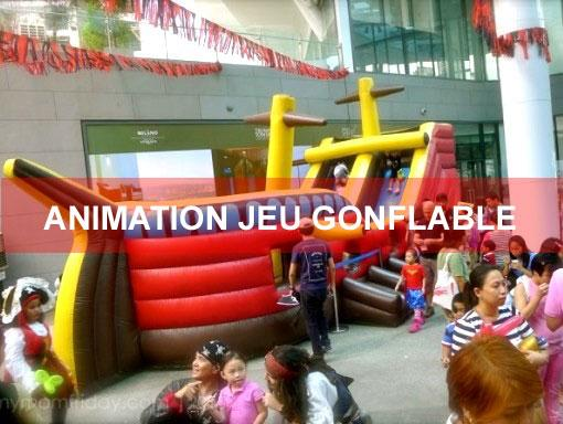 Animation chateau gonflable