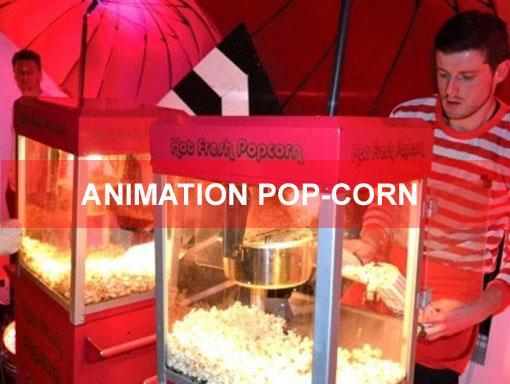 Animation pop corn pays bas